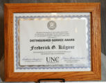 Distinguished Service Award from the University of North Carolina at Chapel Hill, School of...